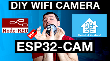 Me showing the esp32-cam and fake security camera