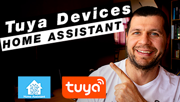 Me pointing at the Tuya Devices Home Assistant title