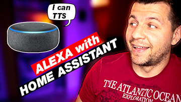 Me looking at Alexa with Home Assistant