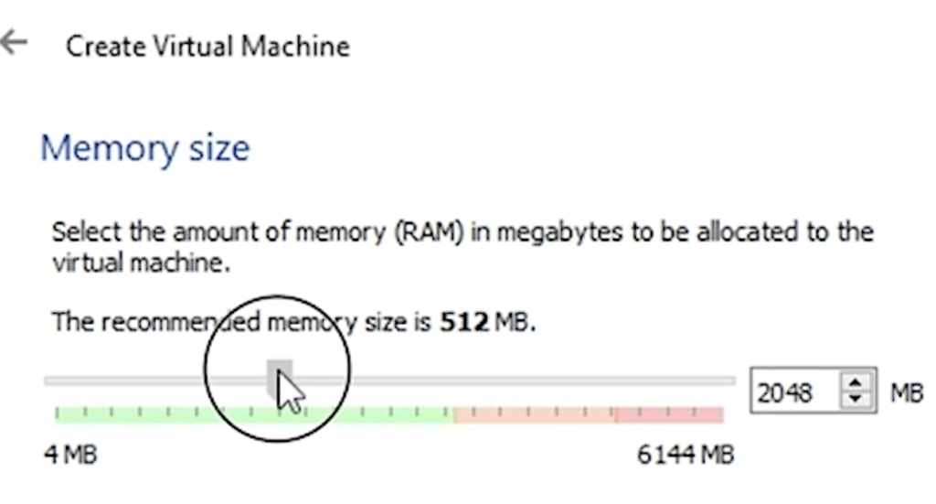 Selecting the amount of RAM for the Home Assistant Virtual Machine