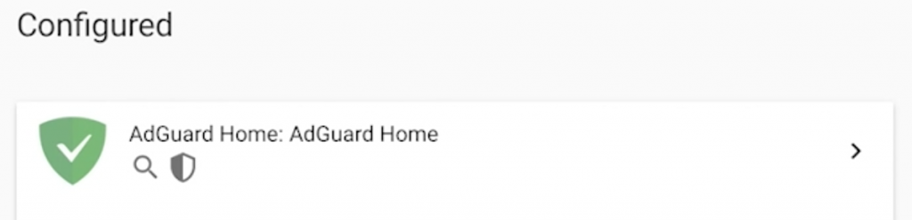 AdGuard Home integration in Home Assistant