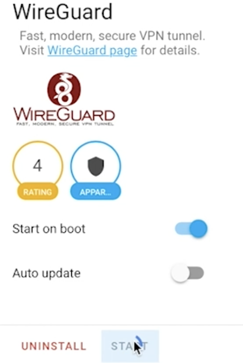Starting the WireGuard add-on in Home Assistant
