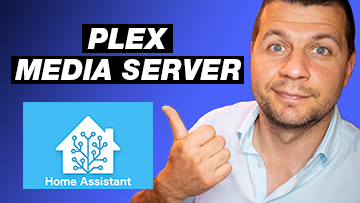 me pointing towards Plex Media Server and Home Assistant