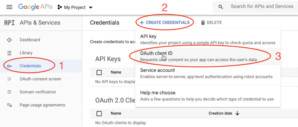 One of the final step for creating the Google Calendar API credentials for Home Assistant
