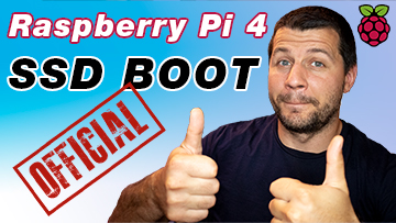 me with thumbs up because of the official Raspberry Pi 4 USB boot