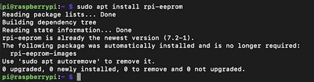 Updating the bootloader to enable the Raspberry Pi 4 usb boot