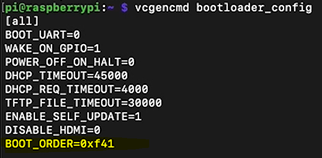 Check the boot order for your Raspberry Pi 4