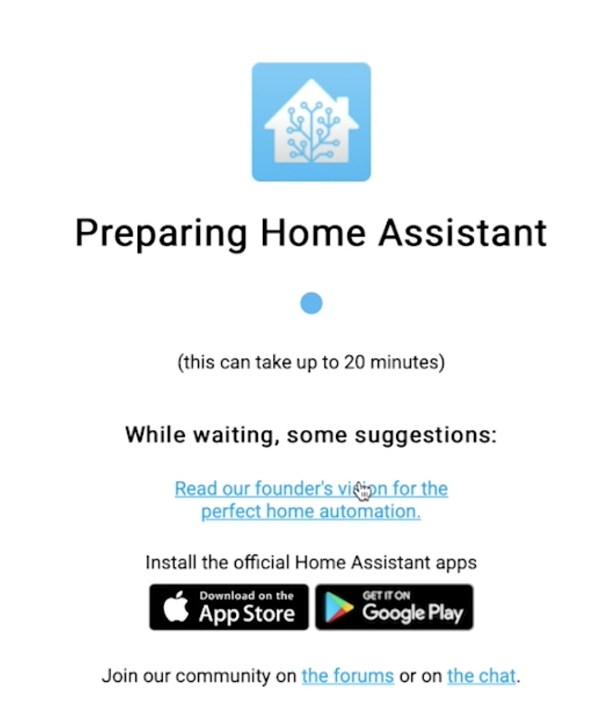 Waiting for the Home Assistant supervised installation to finish