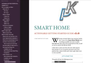 Smart Home Getting Started Actionable Guide table of contents
