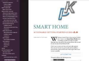 Smart Home Getting Started Actionable Guide table of contents 2