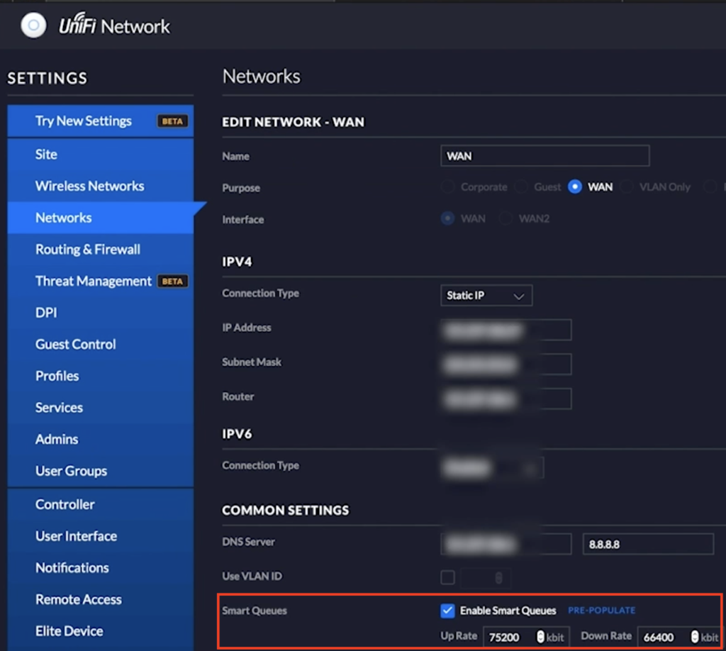 Enable Smart Queues to Optimize UniFi Wired connectivity