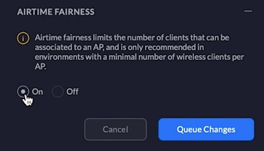 optimize and troubleshoot UniFi AP by enabling airtime fairness feature