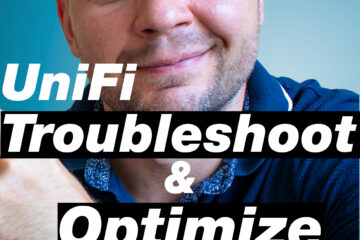 Kiril pointing at UniFi troubleshoot & optimize Wi-Fi label