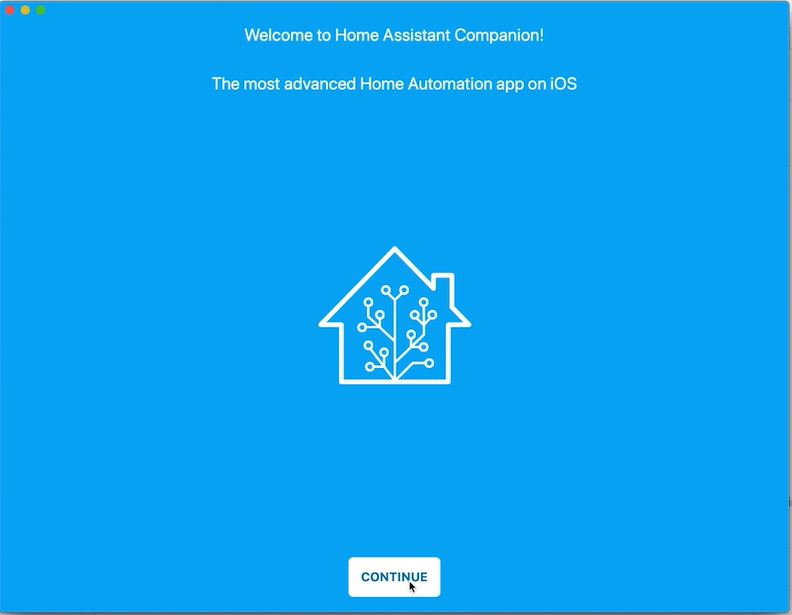 Home Assistant companion for macOS welcome screen