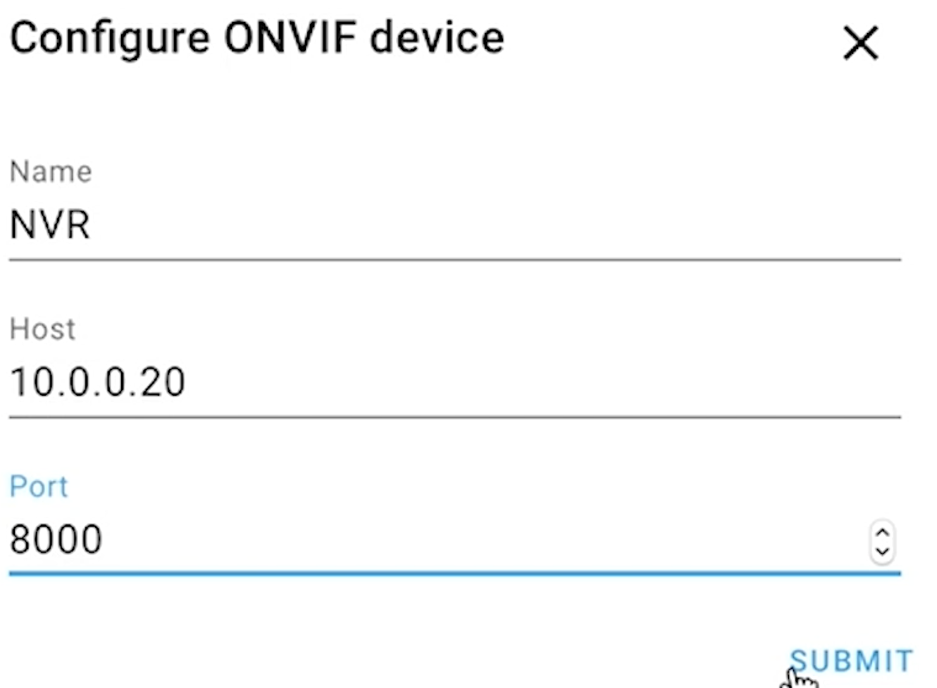 Adding Reolink NVR in Home Assistant using ONVIF