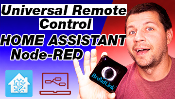 Ме Holding Broadlink RM4 Pro with Home Assistant and Node-RED label