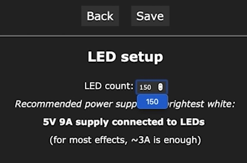 Change the LED count in WLED to control all of the available LEDs that you have