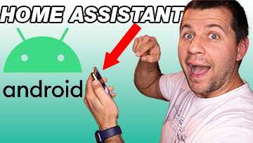 Kiril Peyanski holding a android phone amazed that he can control and receive notifications from Home Assistant