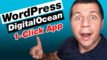 Kiril Peyanski pointing at wordpress digitaloceand 1-click app labels