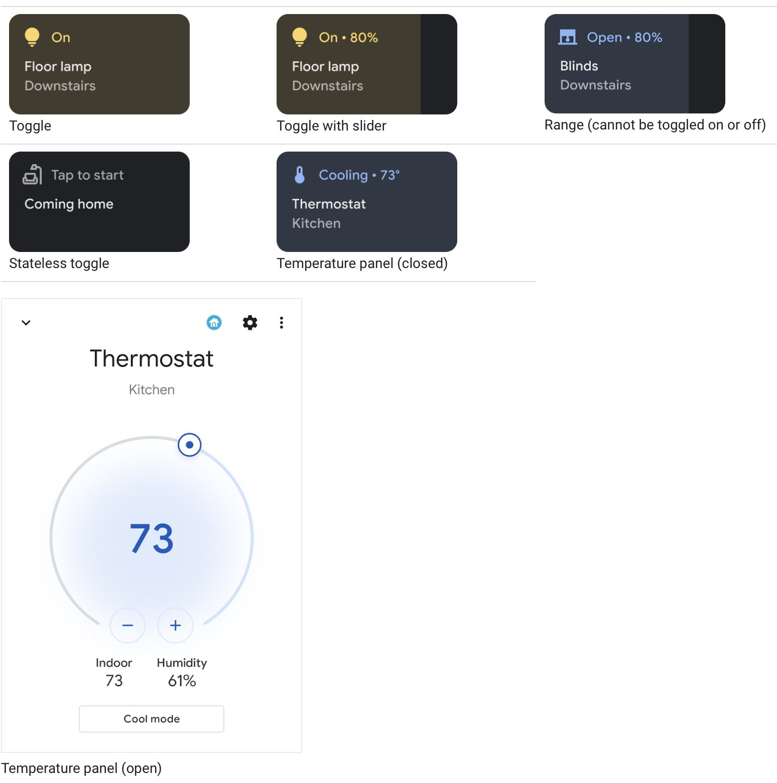 Home Assistant Android 11 power menu controls