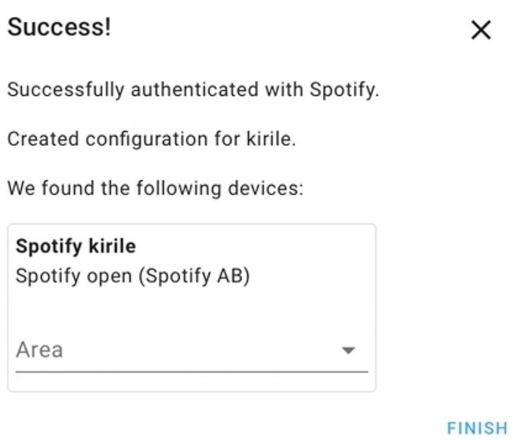 Successful Home Assistant Spotify Integration