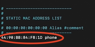 Don't forget that you need the Bluetooth MAC address and not the WiFI MAC.