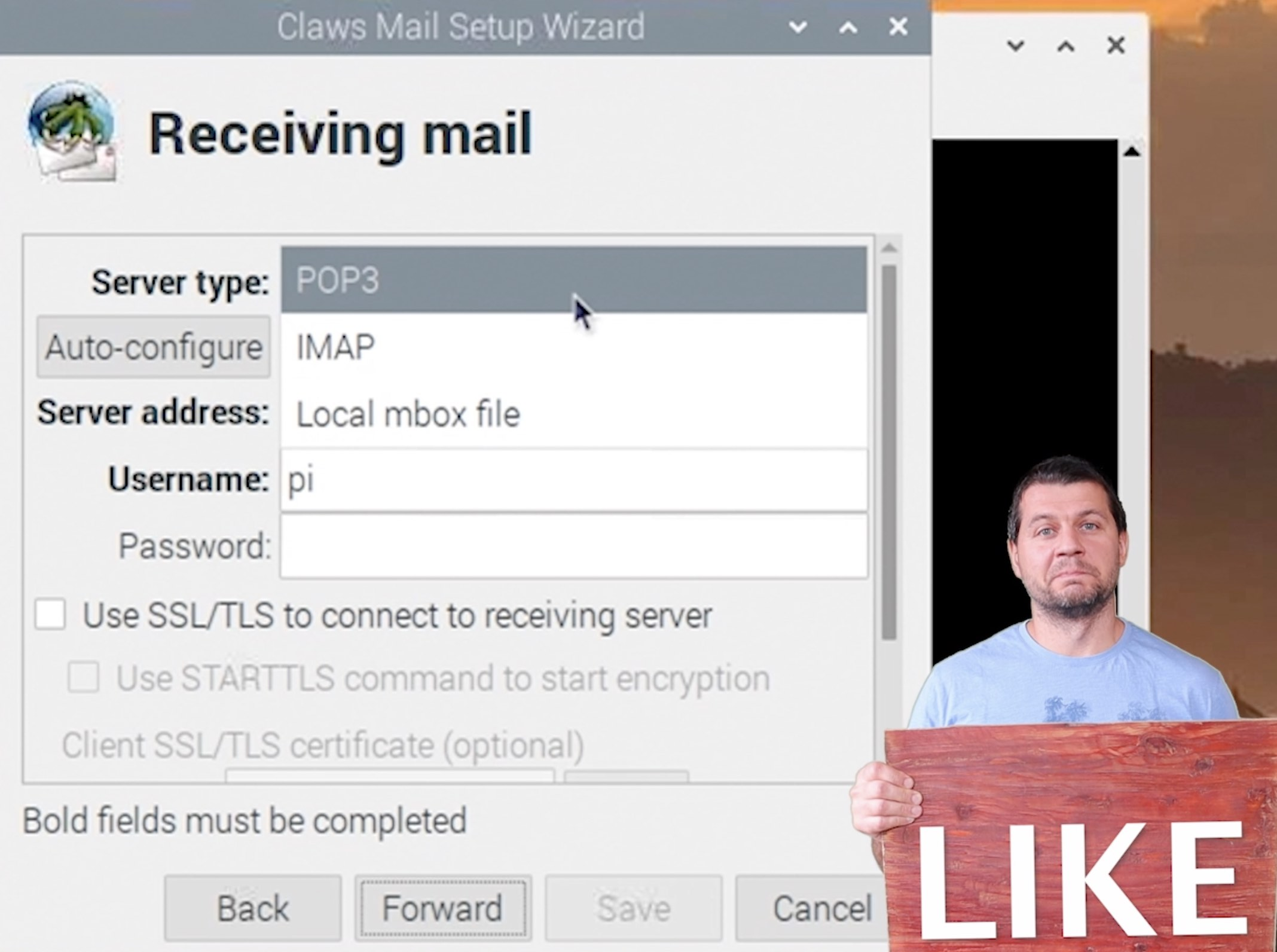 A complete Raspbery Pi Home Office require mail client like Claws Mail