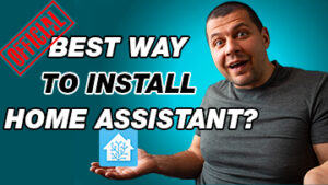 Kiril Peyanski holding home assistant logo and best way to install home assistant label