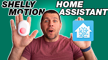 Kiril Peyanski holding Shelly Motion sensor and Home assistant in both hands