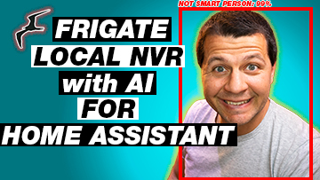 Frigate local NVR with AI fro Home Assistant and Kiril Peyanski with Not smart person box around him
