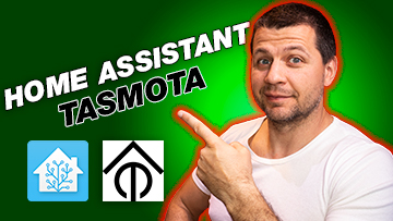 Kiril Peyanski pointing at Home Assistant Tasmota label and logos