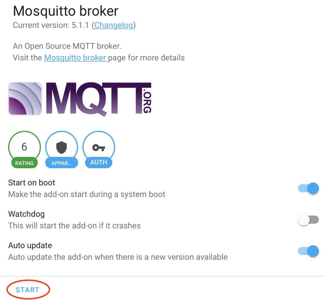 Starting the Mosquitto MQTT Broker from Home Assistant add-on