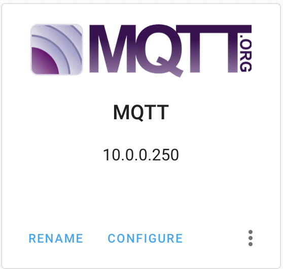 MQTT Home Assistant Integration successfully added in Home Assistant