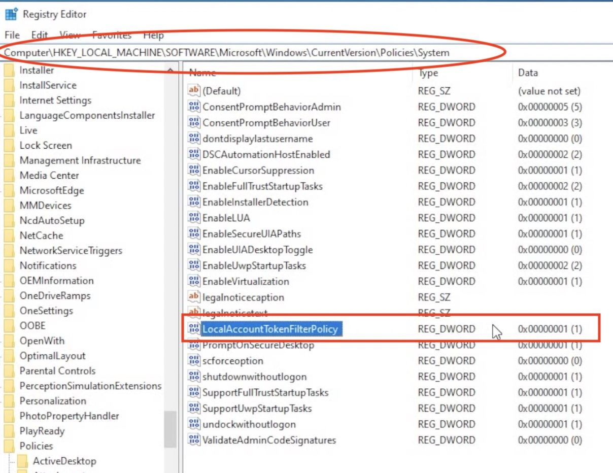 Adding the LocalAccountTokenFilterPolicy 32bit DWORD will allow most probably allow the Home Assistant RPC Shutdown