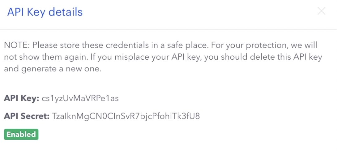 For the Home Assistant Coinbase integration you will need an API Key and Secret