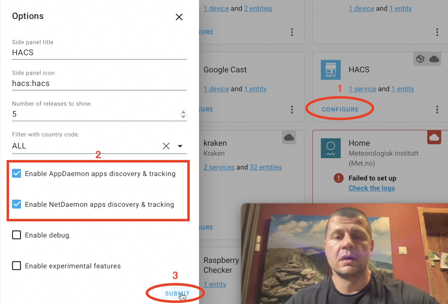 Enable AppDaemon and NetDaemon apps in HACS
