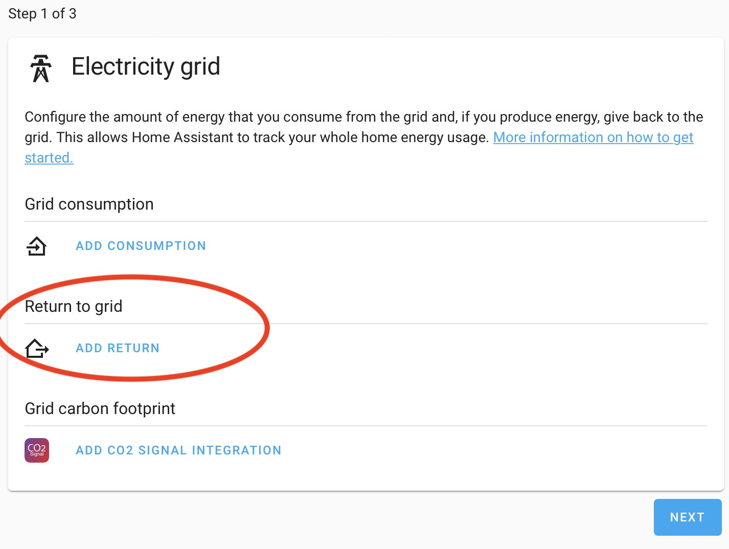 Configuring Return to grid in Home Assistant Energy Management dashboard