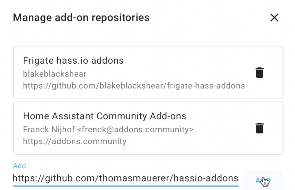 Adding the Home Assistant Samba backup repository in Add-On store