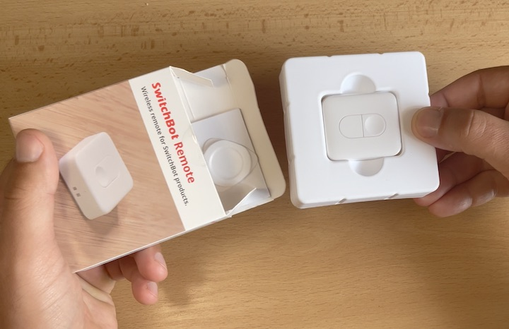SwitchBot Remote have two buttons that can be programmed as you wish