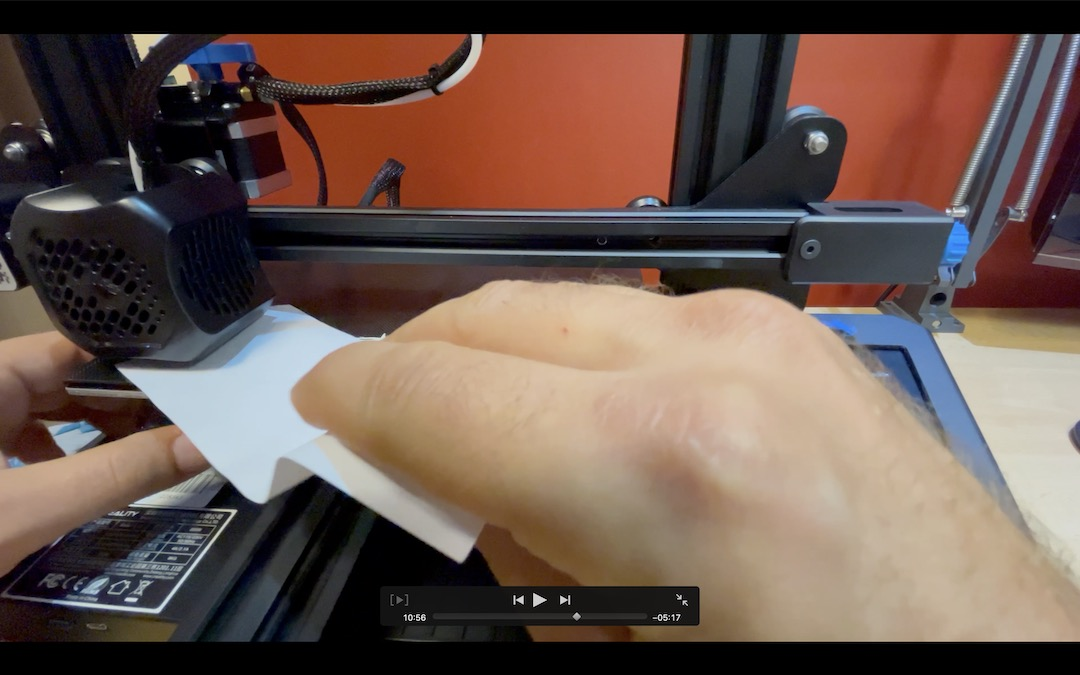level the printer bed with a sheet of paper